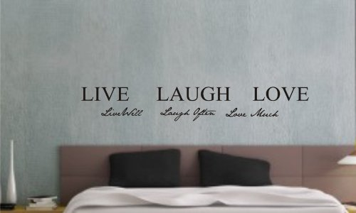 Live Well, Laugh Often, Love Much Vinyl Wall Art Inspirational Quotes And Saying Home Decor Decal Sticker Steamss front-367609