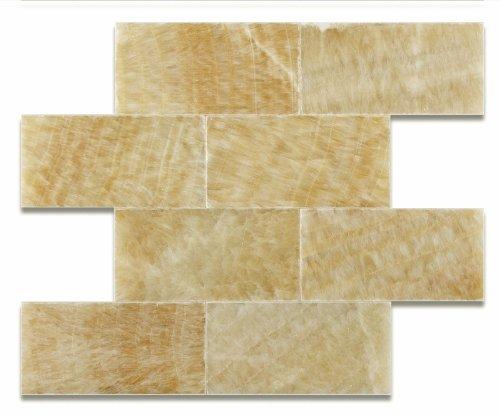 Honey Onyx 3 X 6 Polished Premium Brick / Subway Tile - Box of 5 sq. ft.