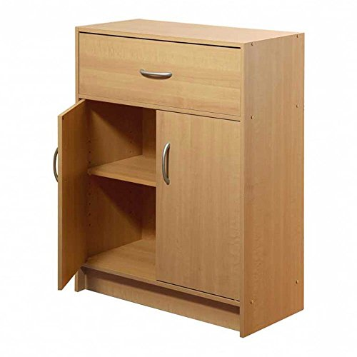 2 Door 1 Drawer Modular Cabinet Organizer Pantry Furniture Home Office Drawer 2 Door Cabinet
