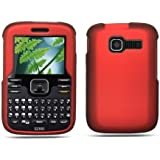 Kyocera Loft / Torino S2300 Crystal Red Rubber Touch Snap-on Phone Protector Hard Cover Case