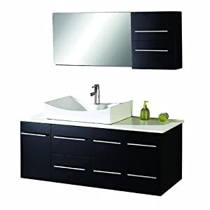virtu usa ms 430 s es ceanna 54 inch wall mounted single sink bathroom vanity set with white. Black Bedroom Furniture Sets. Home Design Ideas