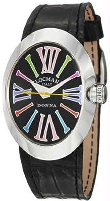 Women's Donna Quartz Black Dial Interchangeable Leather Straps