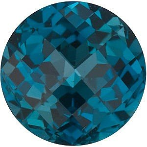 Natural Quality Loose Cut Round Shape Checkerboard London Blue Topaz Gemstone Grade AAA, 8.00 mm in Size, 2.5 Carats