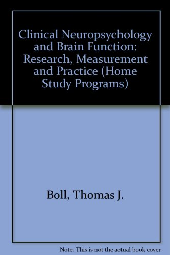 Clinical Neuropsychology and Brain Function: Research, Measurement, and Practice (Master Lectures in Psychology)