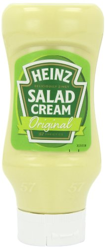 Heinz Salad Cream Squeezy Top Down 460 g (Pack of 5)