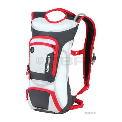 Hydrapak Selva Hydration Pack: Gray/Red; 70oz