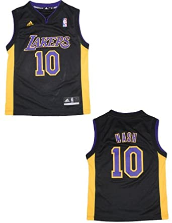 NBA Los Angeles Lakers Nash #10 Youth Pro Quality Athletic Jersey Top by NBA