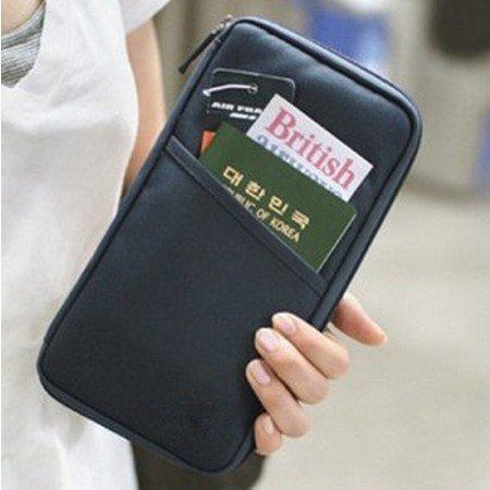DGI-MART-Black-Travel-Wallet-with-Closure-Zip-Document-Organiser-Passport-Ticket-Holder