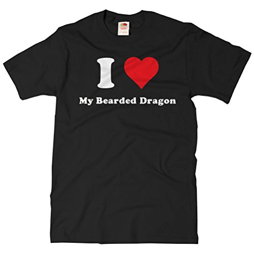 ShirtScope Adult I Heart My Bearded Dragon T-shirt - I Love My Bearded Dragon Tee