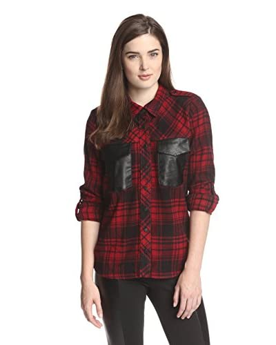 W118 by Walter Baker Women's Mackenzie Plaid Top