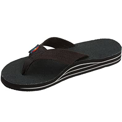 Rainbow Womens Double Layer Hemp Top and Strap with Arch Support Sandal