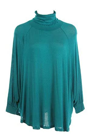 G2 Chic Women's Turtleneck Oversized Chunky Knit Top(TOP-CAS,LBL-S)
