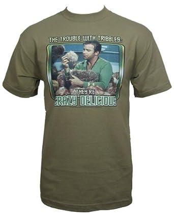 "Star Trek T-Shirt, Mens Officially Licensed Tribbles Brown, X-Large, Chest 46 - 48"""