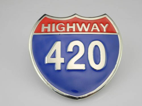 Cool National Motorway Highway 420 Cool Belt Buckle