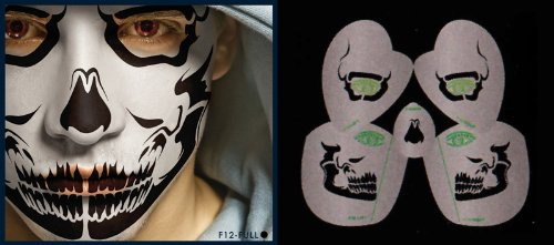 Skull Stencil Airbrush Makeup Face Template