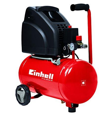 Einhell, Compressore TH-AC 200/24, 1,1 kW, 24 L, potenza uscende 140 l/min, 8 bar, 1 cilindro
