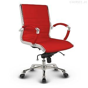 Versee Leder Design Drehstuhl Bürostuhl Montreal Low Back rot  Kundenbewertungen