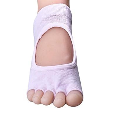 Socken damen herren Kolylong toed Rückenfrei Yoga Socken