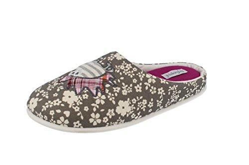 Pantofole Basse Leggere Donna Casa De Fonseca TENDER63 Grigio Stampato 38