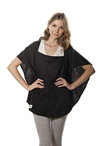Poncho Baby Nursing Cover, Oval Black