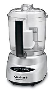Cuisinart DLC-4CHB Mini-Prep Plus 4-Cup Food Processor, Brushed Stainless Steel