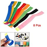 8 Pcs Colorful Multi Purpose Cable Wire Curtain Tie Marker Straps Belt