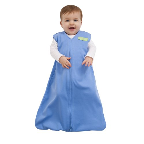 HALO Sleepsack 100% Cotton Wearable Blanket, Bright Blue, Small (Discontinued by Manufacturer) (Discontinued by Manufacturer)
