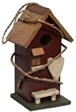 Garden Decoration HT121040BU RBirdhouse 105-Inch Burgundy