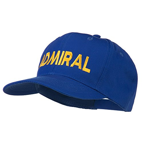 Admiral Embroidered Cotton Twill Cap - Royal OSFM (Admiral Cap compare prices)