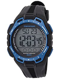 Timex TW5K94700 Digital Full Marathon Black And Blue Chrono Watch