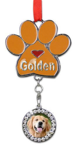 Golden Retriever Ornament - I love Goldens Christmas Ornament