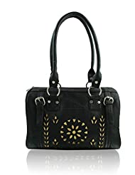 ZEPPAR BLACK SYNTHATIC LEATHER LADIES HAND BAG LADIES HAND BAG