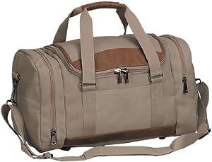 14oz Canvas Carry on Sport Gym Travel Duffel Bag- Sand
