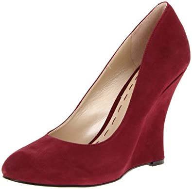 Nine West To The Flo Womens Burgundy Suede Wedges Heels Shoes Size UK 4.5