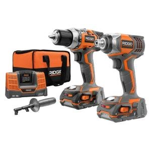 Ridgid ZRR9600 X4 Hyper 18V Cordless Lithium-Ion 1/2 in. Drill Driver and Impact Driver Combo Kit
