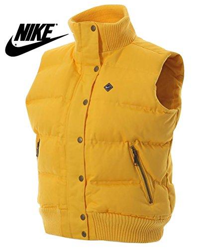 Nike -  Cappotto  - Giacca trapuntata - Maniche lunghe  - Donna Giallo giallo M
