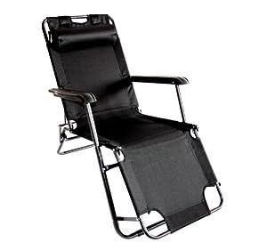 garten relaxsessel relaxliege klappliege sonnenliege m12 anthrazit. Black Bedroom Furniture Sets. Home Design Ideas