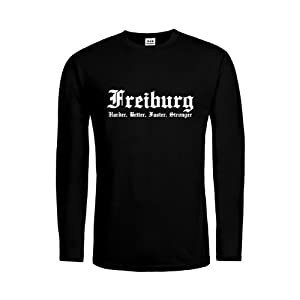 dress-puntos Herren Langarm T-Shirt Freiburg Harder, Better, Faster, Stronger 20drpt15-mtls00062