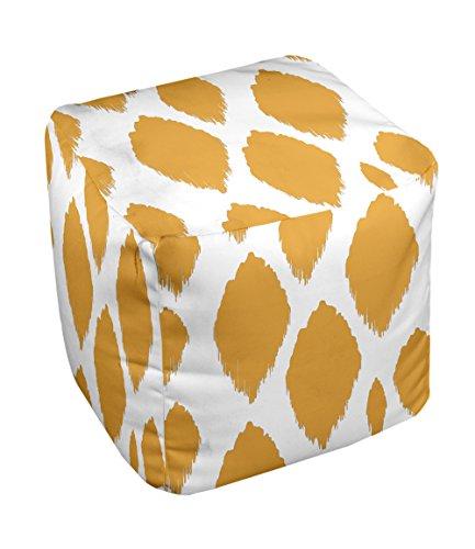 E by design FG-N15-Celosia_Orange-13 Geometric Pouf - 1