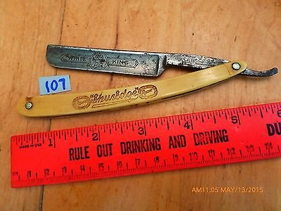 vintage straight razor barber antique White King ShurEdge Robeson Rochester NY 0