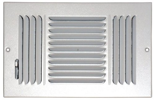 Speedi-Grille SG-810 CW3 8-Inch by 10-Inch White Ceiling/Sidewall Vent Register with 3 Way Deflection (Ceiling Register 10x10 compare prices)