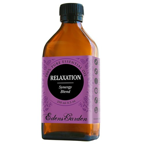 Relaxation Synergy Blend Essential Oil by Edens Garden (Lavender, Marjoram, Patchouli, Mandarin, Geranium & Chamomile)- 250 ml