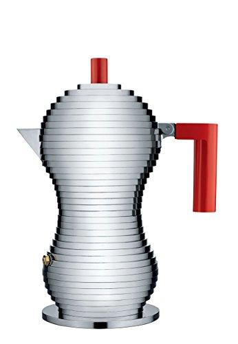 Alessi MDL02 3/R, Kaffeemaschine für Espresso/Handbrause Griff, Aluminiumguss, Polyamid, Rot