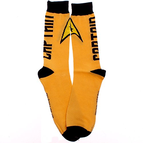 Star Trek Yellow Captain Insignia Crew Socks