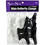 Soft'n Style Large Butterfly Clamps, 12 Count
