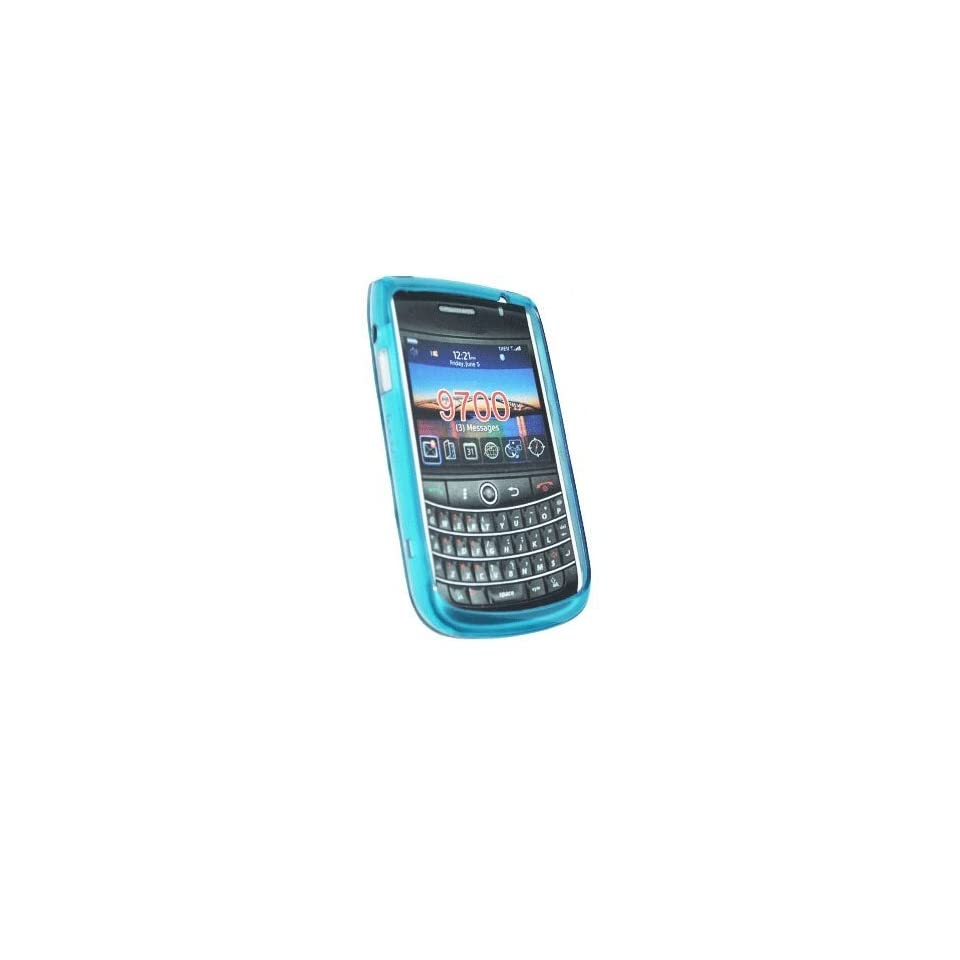 mobile palace  Blue gel case cover pouch holster for blackberry bold 9780