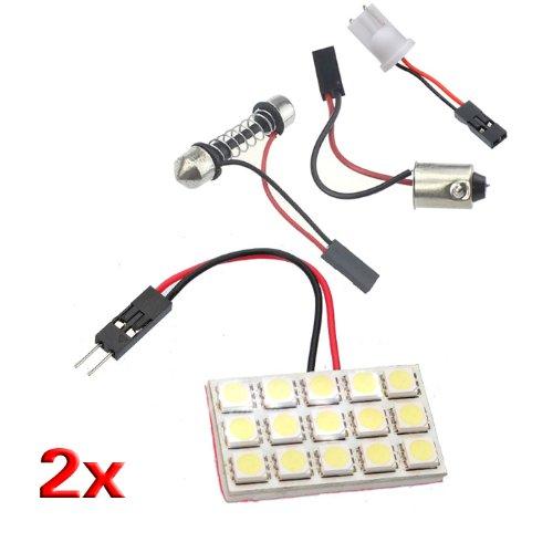 toogoor-panel-de-iluminacion-interior-del-coche-2x-15-smd-5050-adaptador-bombilla-led-t10-ba9s-adorn