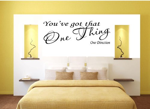 YOUVE GOT THAT ONE THING ONE DIRECTION WALL DECAL Size X - One direction wall decals
