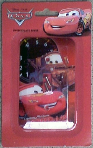 Disney Pixar Cars Lighting McQueen Switchplate Cover - Kids Nursery Bedroom Playroom Decor Light Switch Plate