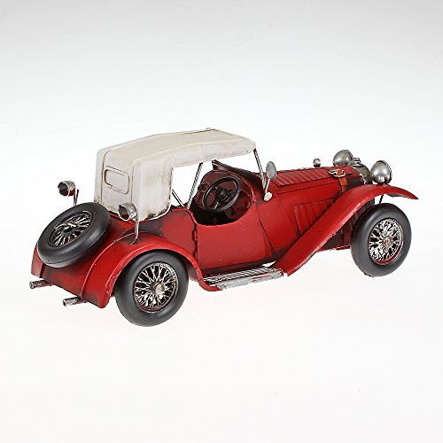 Vintage Tin Model of 25 in the year model 2 Approx. 31 x 11 cm x 14 cm red